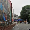 73 Cents Mural - Yoga Studio in Background