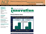 Acp Online - Center For Practice Innovation - Clinical Metrics Data (20071119)