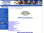 Strategic Health Care Communications -- Web Awards Winners (20071115)