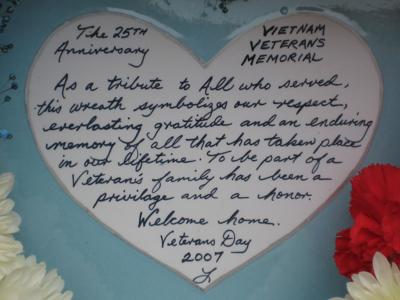 Photo Friday: Vietnam Veterans Memorial