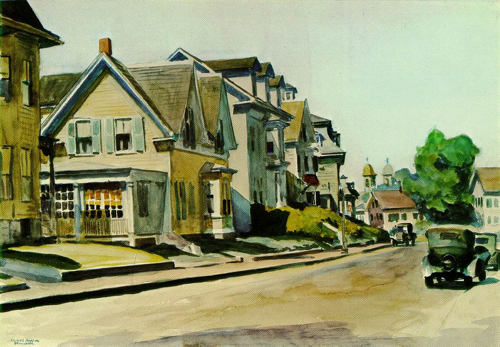 Sun on Prospect Street, Edward Hopper