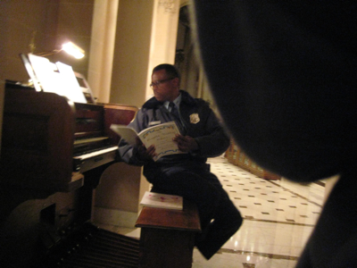 DC Police Officer and Sheet Music