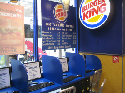 Burger King Internet Kiosks, New York City