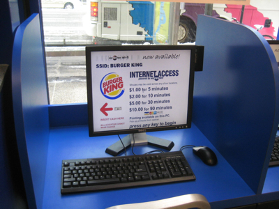 Burger King Internet Access