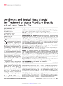 Williamson Et Al - 2007 - Antibiotics And Topical Nasal Steroid For Treatmen