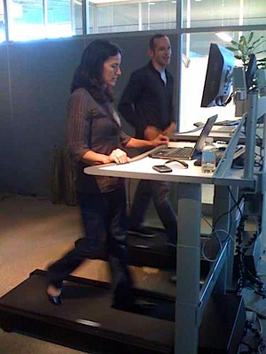 Ted and Margaret on FitWork Workstations