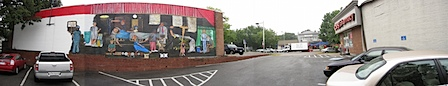 73 Cents Mural - Panoramic View