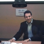 Danny Sands, MD, Cisco Systems, Demonstrating Audio in Telepresence Unit 0 00 14-15