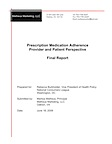 Prescription Medication Adherence Provider and Patient Perspective