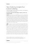 New York City's Fight Over Food Labeling