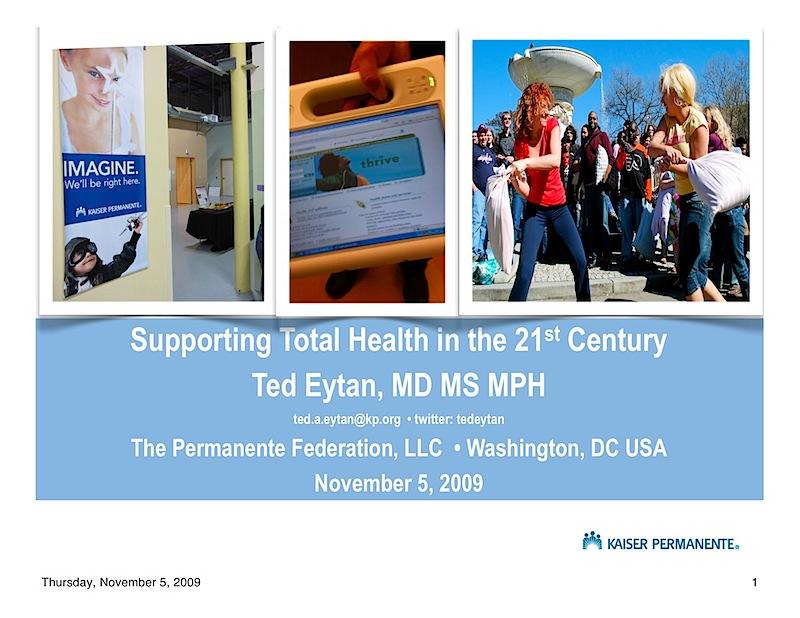 Presentation: Prevention and Screening - Informatics for Consumer Health