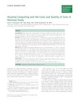 Hospital Computing and the Costs and Quality of Care: A National Study
