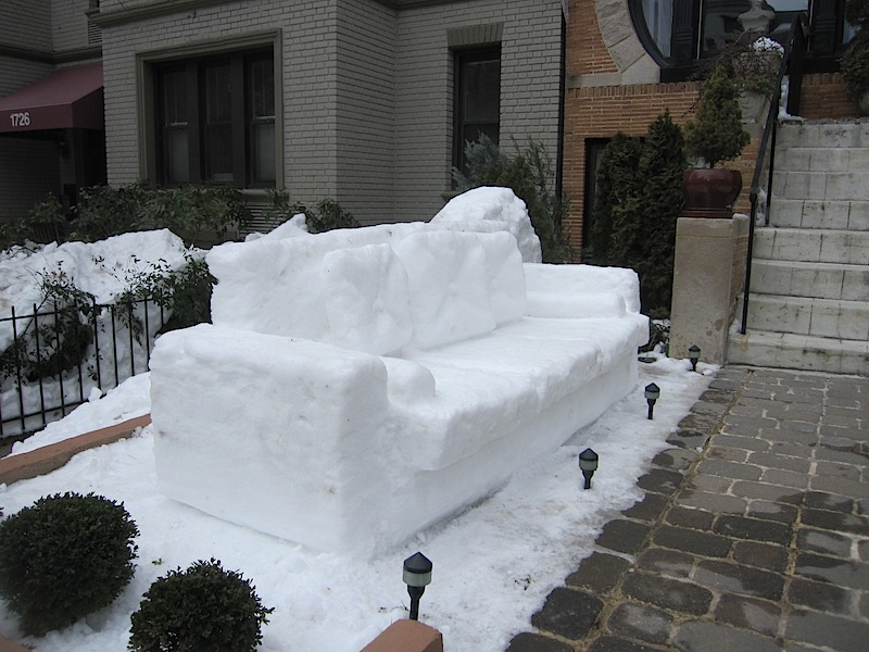 Snow Couch   Dupont Circle ...