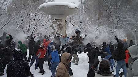 Dupont Circle Snowball Fight