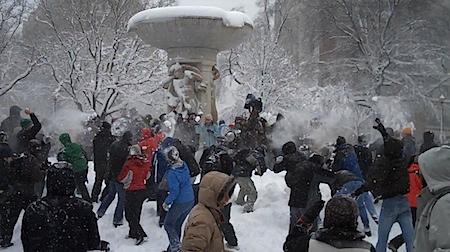 Dupont Circle Snowball Fight