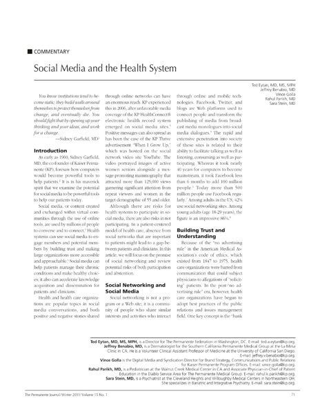 health article and essay