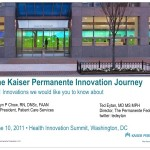 Kaiser Permanente Innovation Journey 1