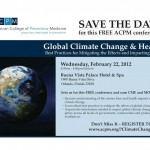 Speaking on Global Climate Change and Health - American College of Preventive Medicine 2012
