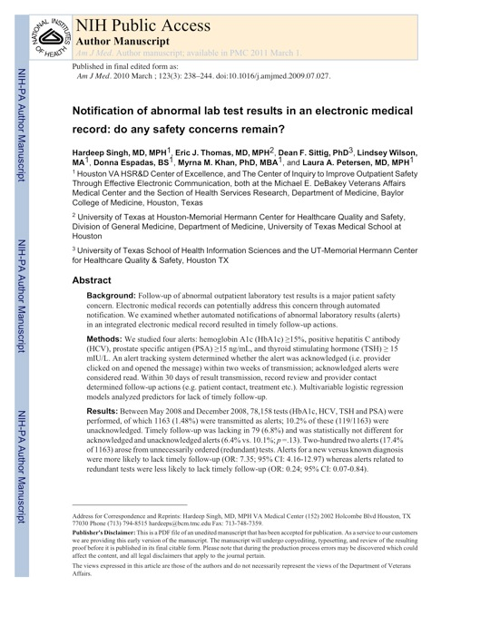 Now Reading: Why patients need access to their lab test results - lack of timely follow-up even with an EHR