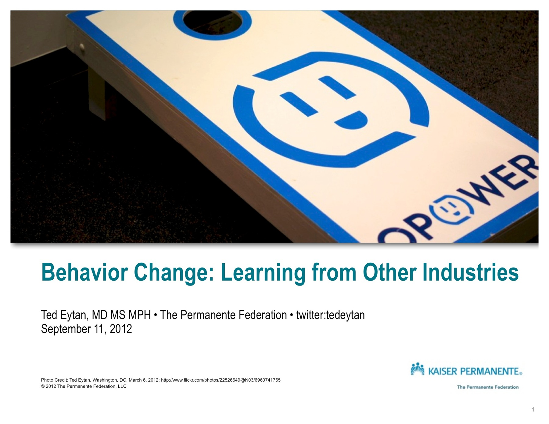 Behavior Change  Learning from Other Industries  Eytan 1