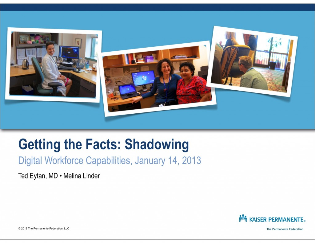 Getting the Facts - Shadowing - Eytan  1