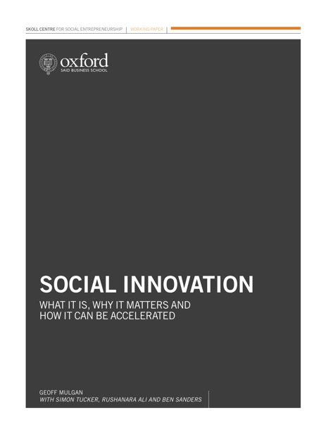 "Just Reading: ""Social Innovation"" and Social Innovators (people who take no as a question)"