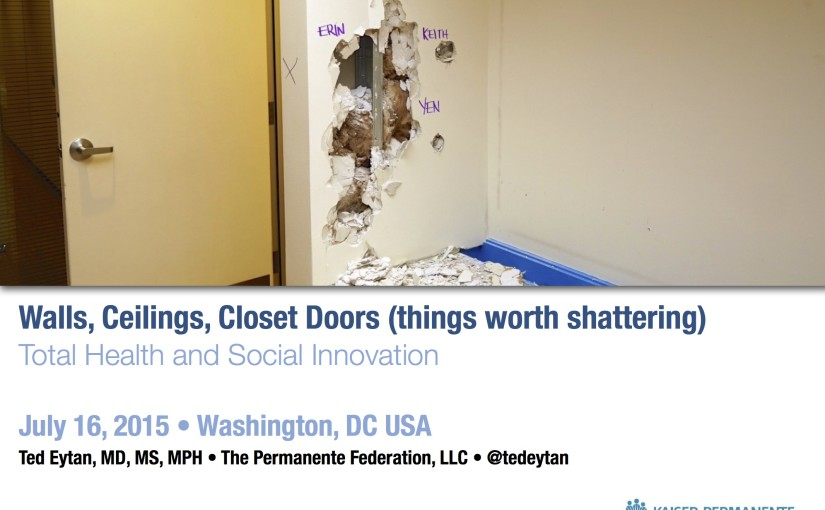 Presentation: Walls, Ceilings, Closet Doors (Things Worth Shattering): Total Health and Social Innovation