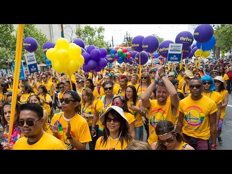 Video: Marching with Pride - 1,000 Kaiser Permanente employees in San Francisco