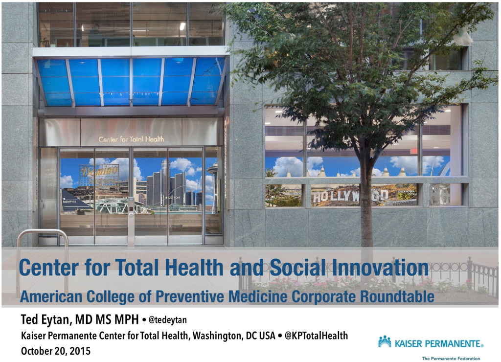 Center for Total Health and Social Innovation