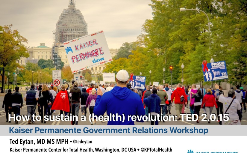 Presentation: How to sustain a (health) revolution