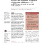Just Read: Evidence from randomised controlled trials did not support the introduction of dietary fat guidelines in 1977 and 1983: a systematic review and meta-analysis