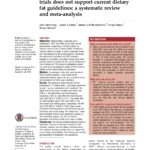 Just Read: Evidence from randomised controlled trials does not support current dietary fat guidelines: a systematic review and meta-analysis.